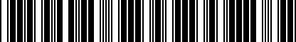 Barcode for 8637171-3
