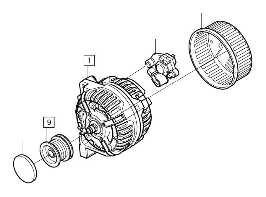 volvo xc90 pulley  genuine classic part