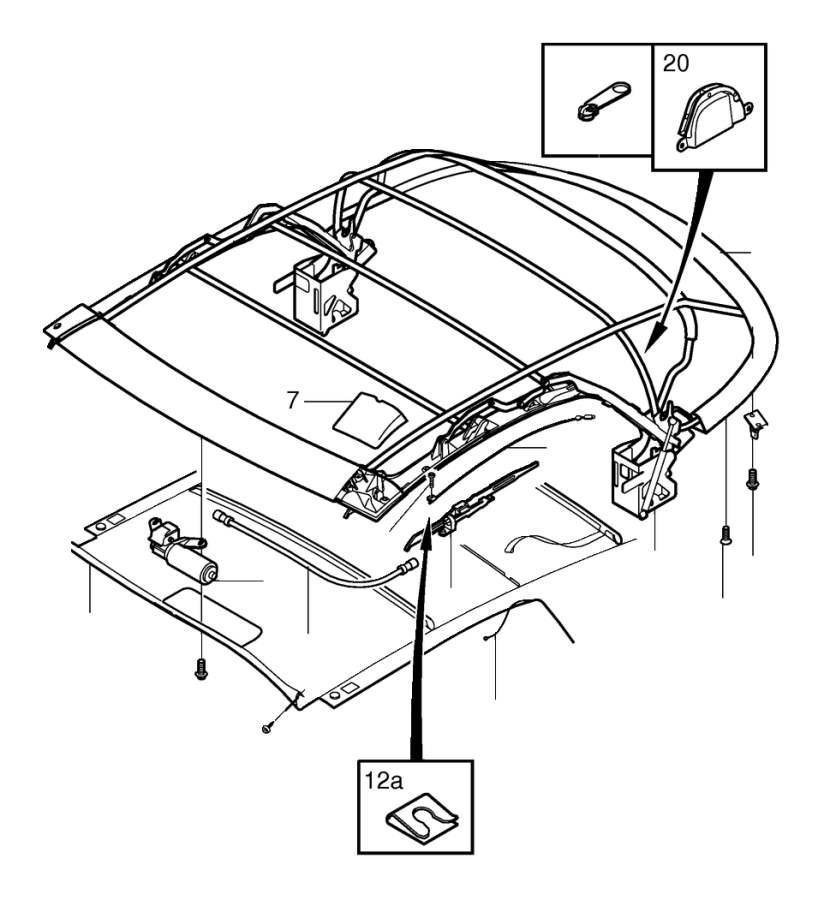 Volvo Parts: Volvo C70 Roof. Top - 8628724