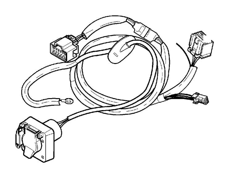 volvo xc90 towbar  wiring harness  4