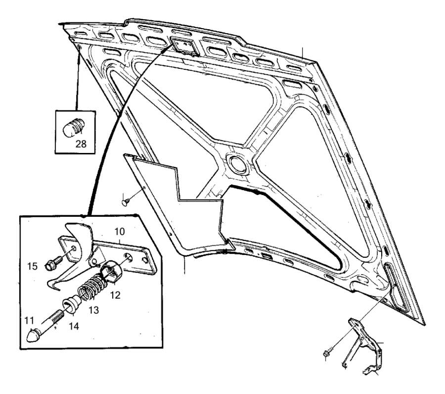 door, armrest, front � volvo 240 used parts: 1993 volvo 240 hood  genuine  classic part