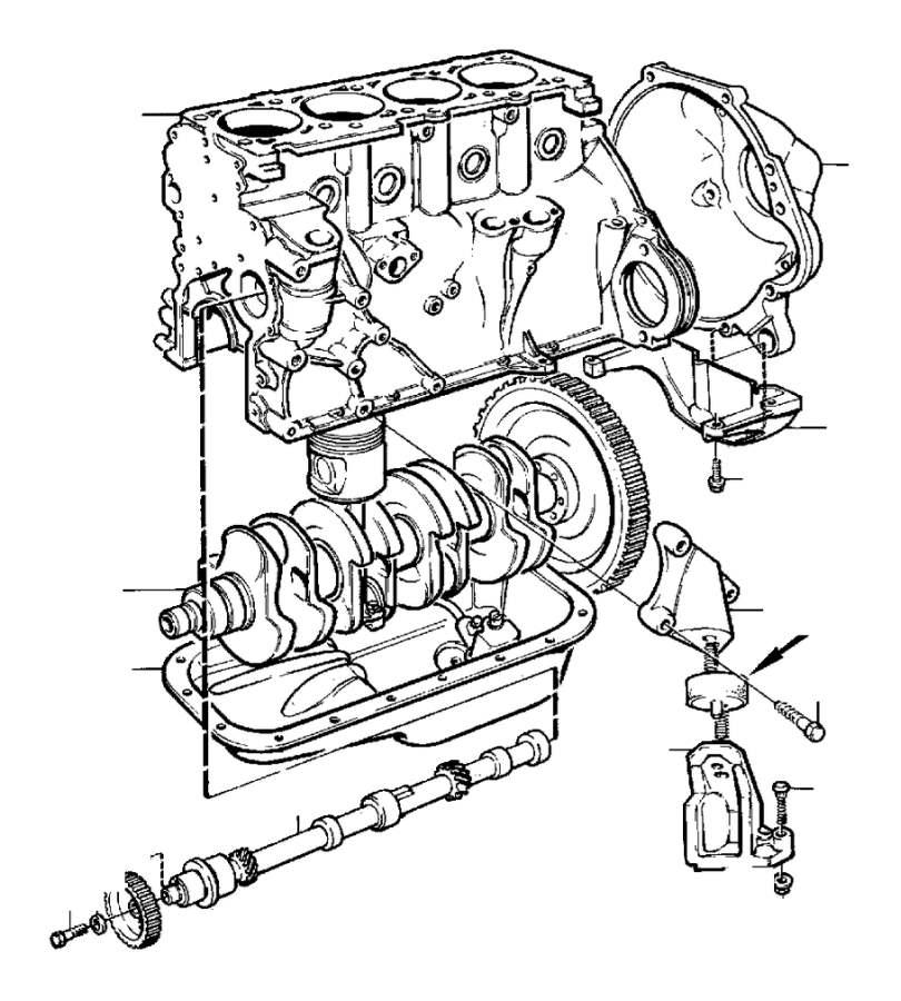 Volvo Parts: Engine With Fittings B200, B230 B230F, B230FT