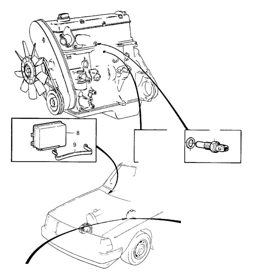 Volvo Parts: 1991 Volvo 240 Iat Sensor. Genuine Classic Part