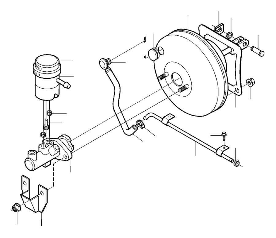 Volvo Parts: Volvo V40 2.0l 4 Cylinder Turbo Decanter. Servocylinder