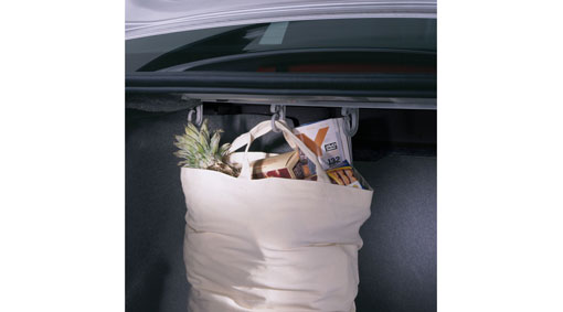 Diagram Bag holder, cargo compartment S40 A hanging system for carrier and shopping bags in the cargo compartment that prevents the bags from falling over and spilling out the contents. for your 2009 Volvo S40