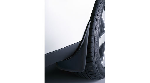 Diagram Mudflaps, front and rear Mudflaps designed to fit the car's wheel arches, which are discreetly integrated into the car's styling, and which also effectively protect the sides of the car from wheel spray. for your 2009 Volvo S40