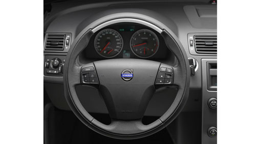 Diagram Sport steering wheel in leather with aluminum inlay A unique three-spoked sports steering wheel for a sporty feel. for your 2009 Volvo S40