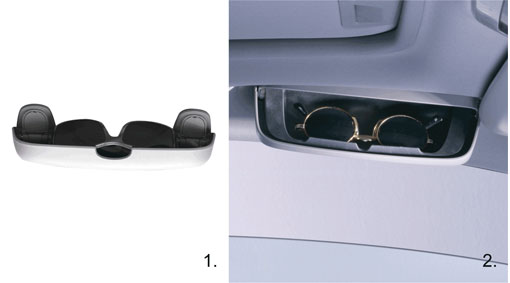 Diagram Glasses holder A practical and functional glasses holder for the best possible storage of your glasses. for your 2010 Volvo V50