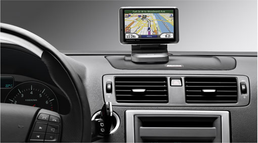 Diagram Navigation system, portable 760 A convenient and very powerful portable navigator designed for your Volvo. Simple operation makes for efficient in-car navigation. for your 2009 Volvo S40