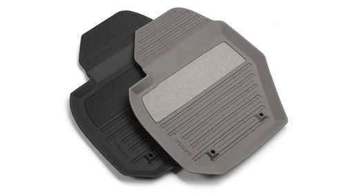 Diagram Mat, passenger compartment floor, rubber A full-coverage floor mat of sturdy natural rubber, with raised edges all around. The mat gives effective protection for the car's interior against the wet and dirt. for your 2001 Volvo