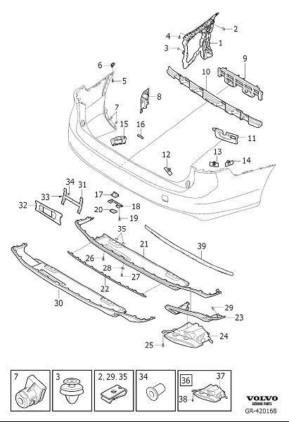 31425423 - Volvo Trim moulding | Volvo Parts Webstore, Oak ...