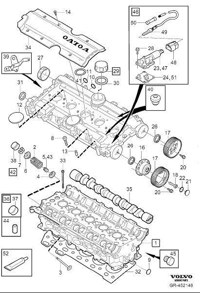Diagram Cylinder head for your 2000 Volvo