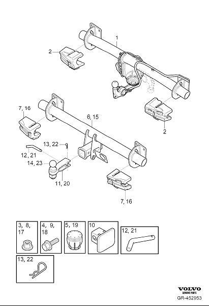 2018 Volvo Xc60 Towing Hook  Detachable  Designation