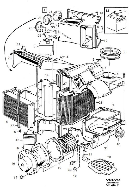 1388199  Volvo Solenoid valve Genuine Classic Part