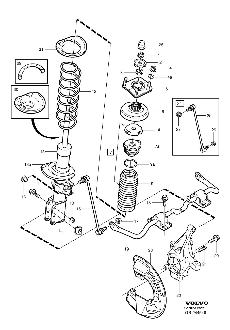 Gr on 2002 Volvo S80 Front Suspension Diagram