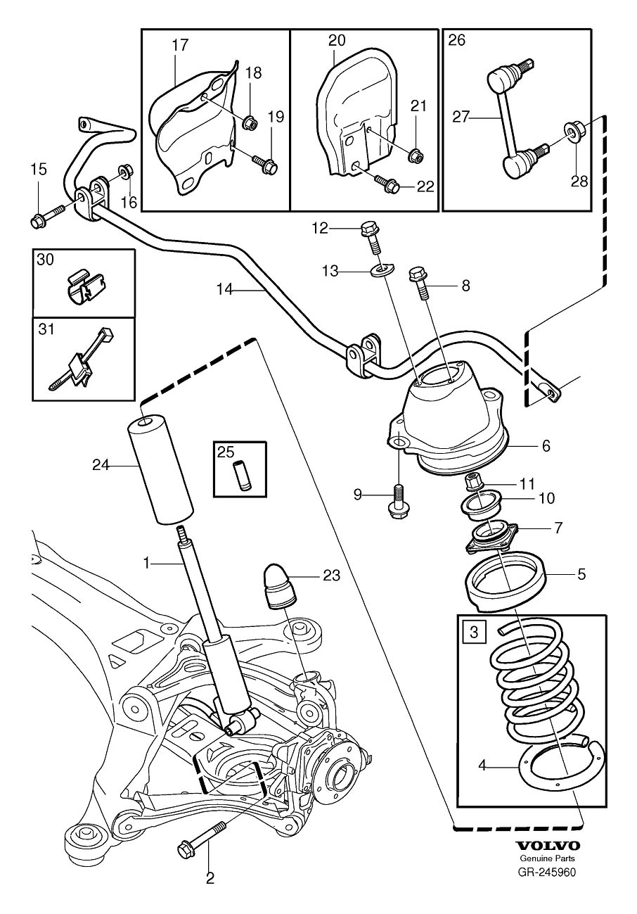 2002 volvo s60 suspension diagram
