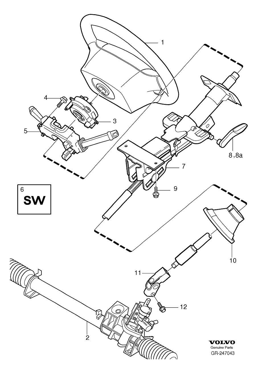cadillac cts steering column diagram
