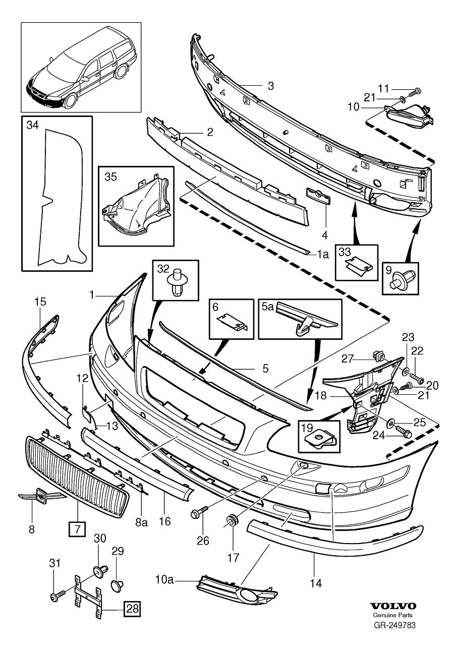 Page 3 on Volvo Front Bumper Parts Diagram