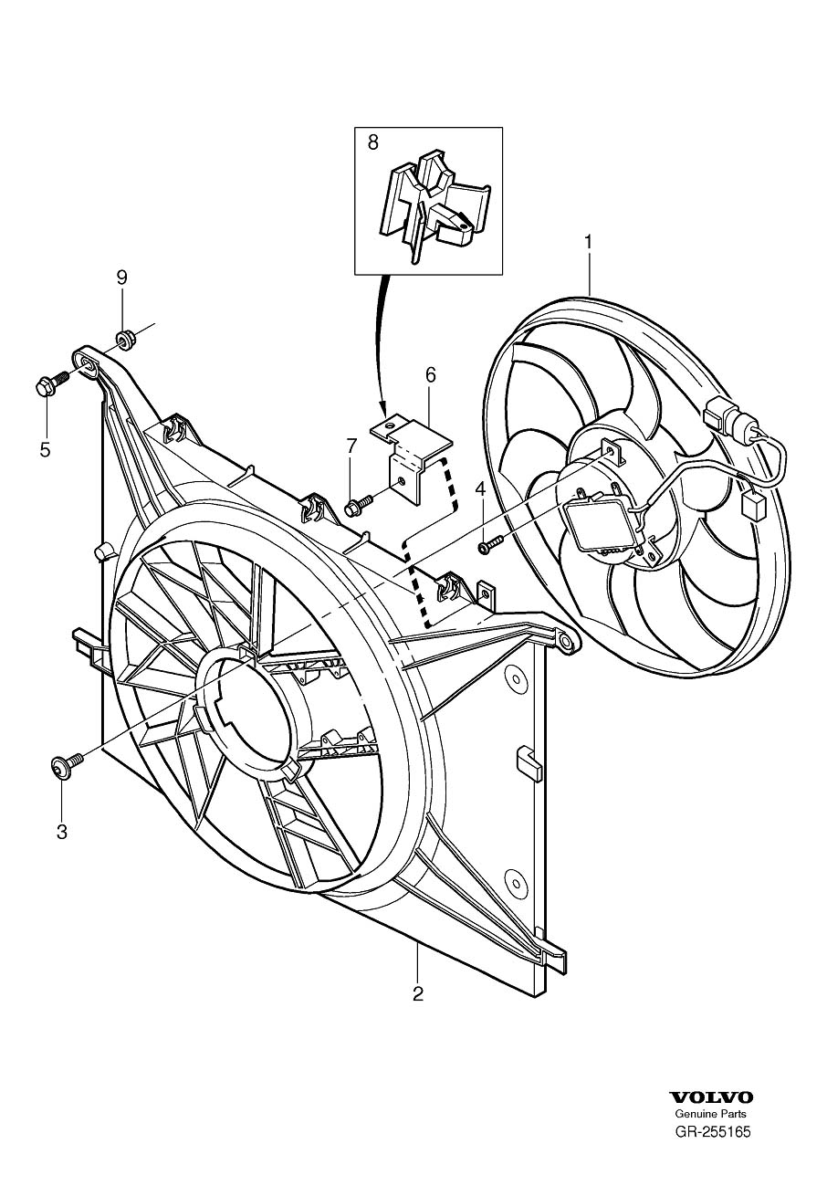 Diagram Electric fan for your 2003 Volvo S60 2.4l 5 cylinder