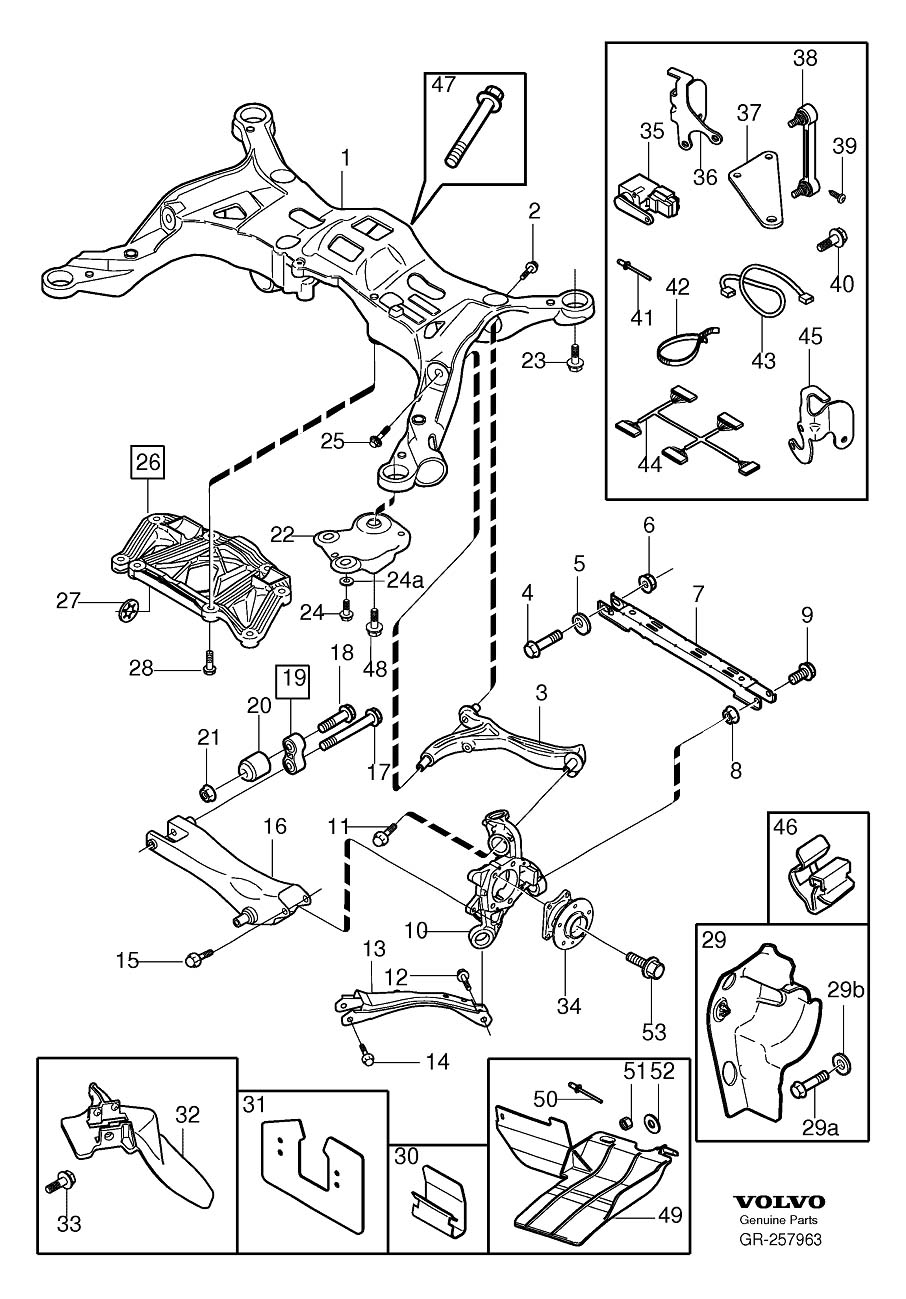 volvo 740 rear suspension parts diagram  volvo  auto
