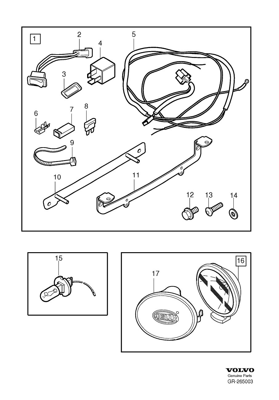 Diagram Spot lamp for your 2007 Volvo S40