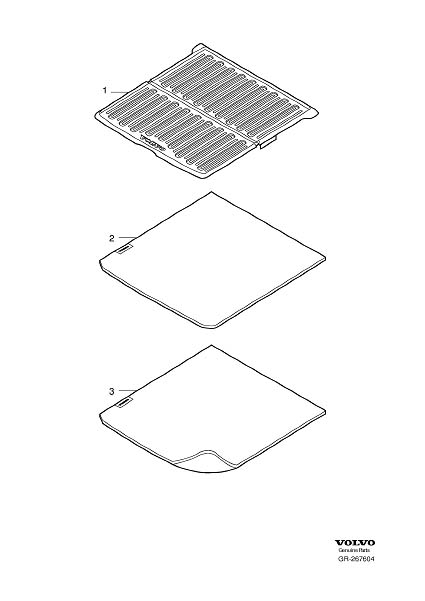 Diagram Insert mat cargo compartment for your 1993 Volvo