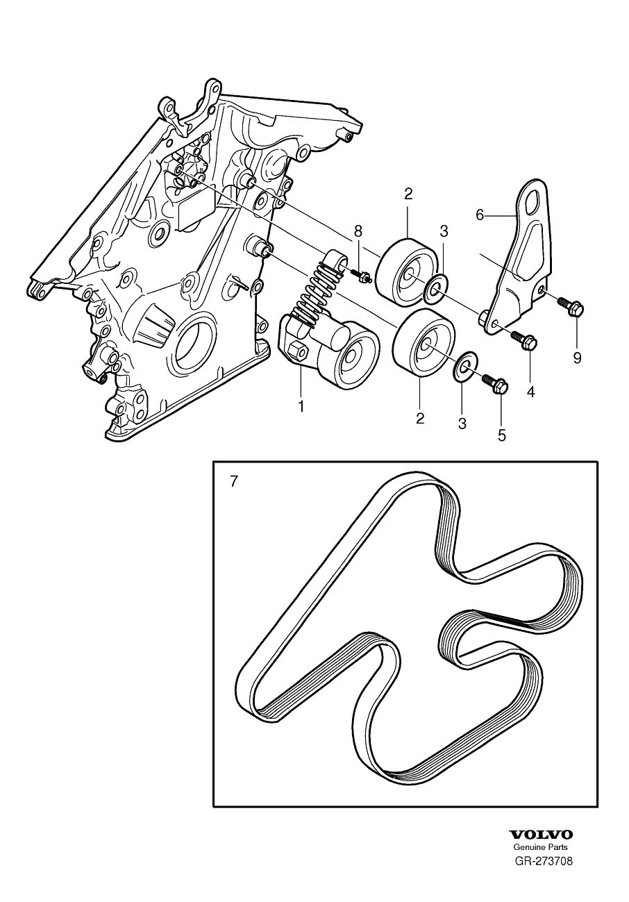 volvo xc90 drive belt diagram