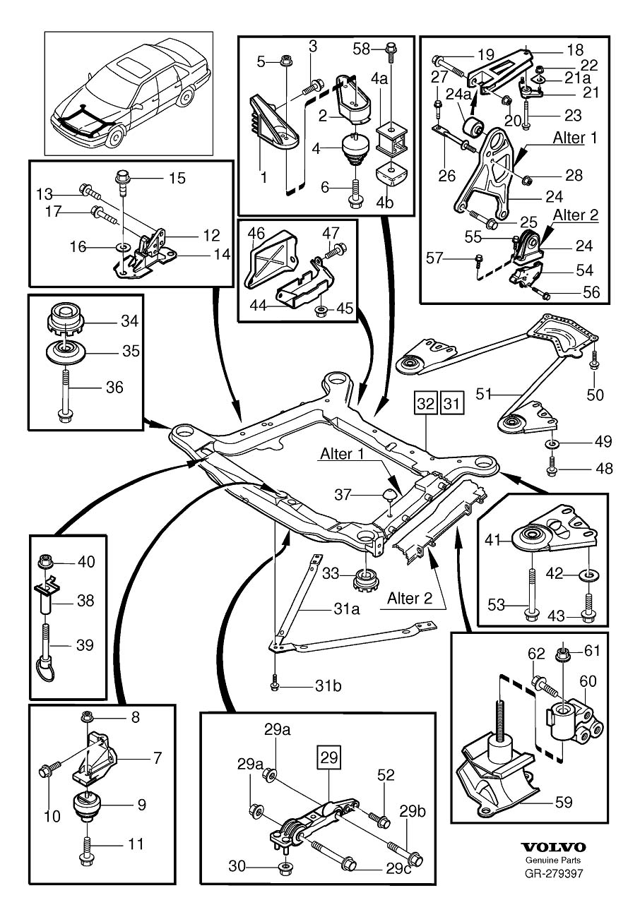 1999 volvo s70 fuse box diagram