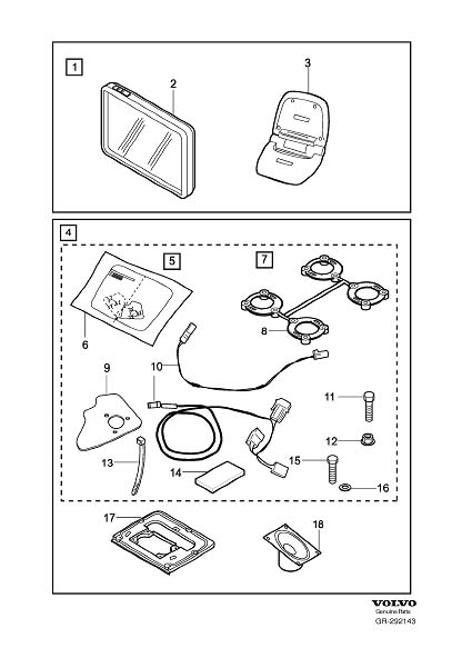 Diagram Road navigation portable accessory for your 2009 Volvo S40