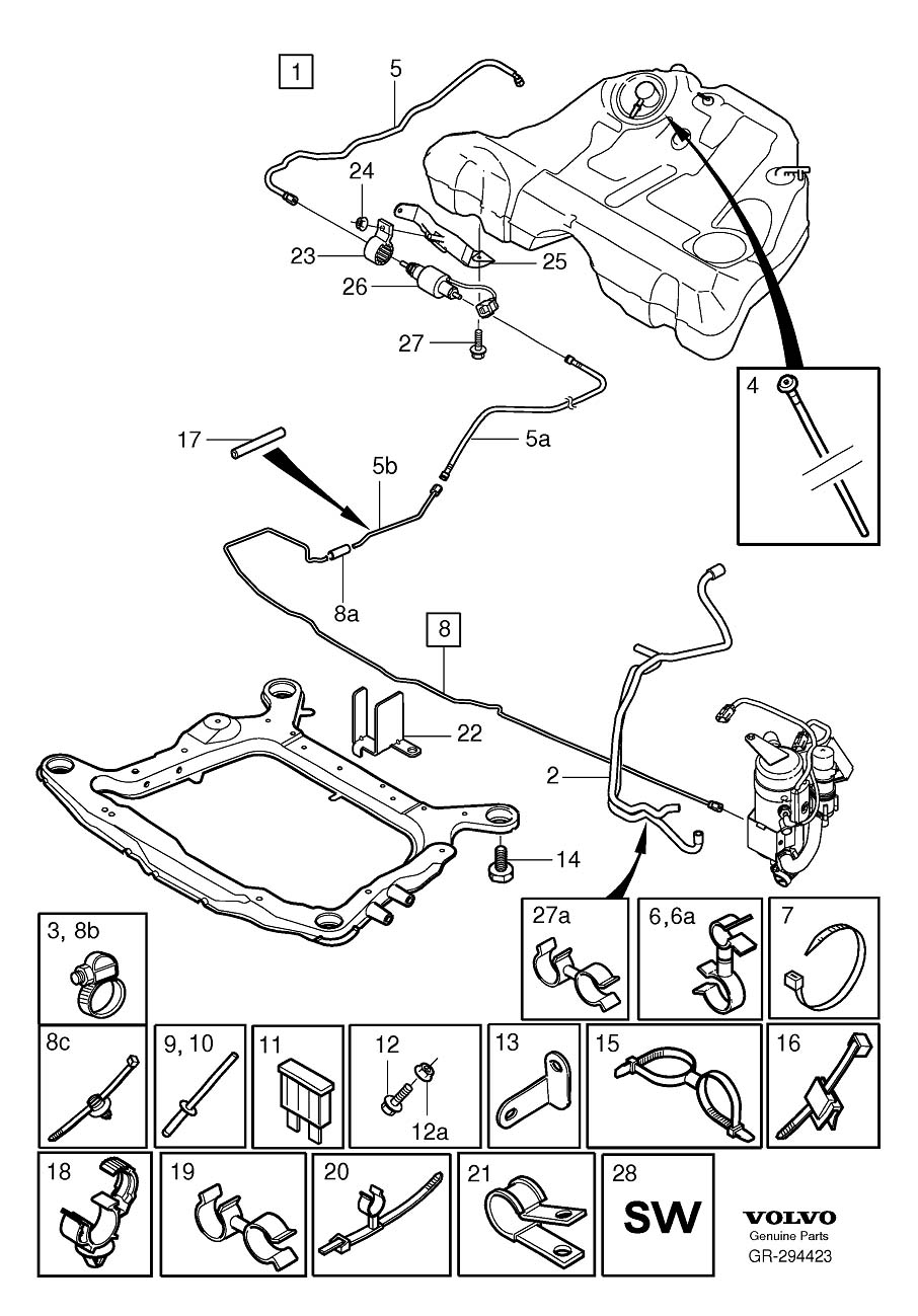 Parking heater installation Kit 2005- Diagram