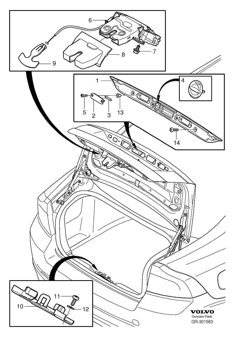 how to fix 2011 volvo s40 trunk latch