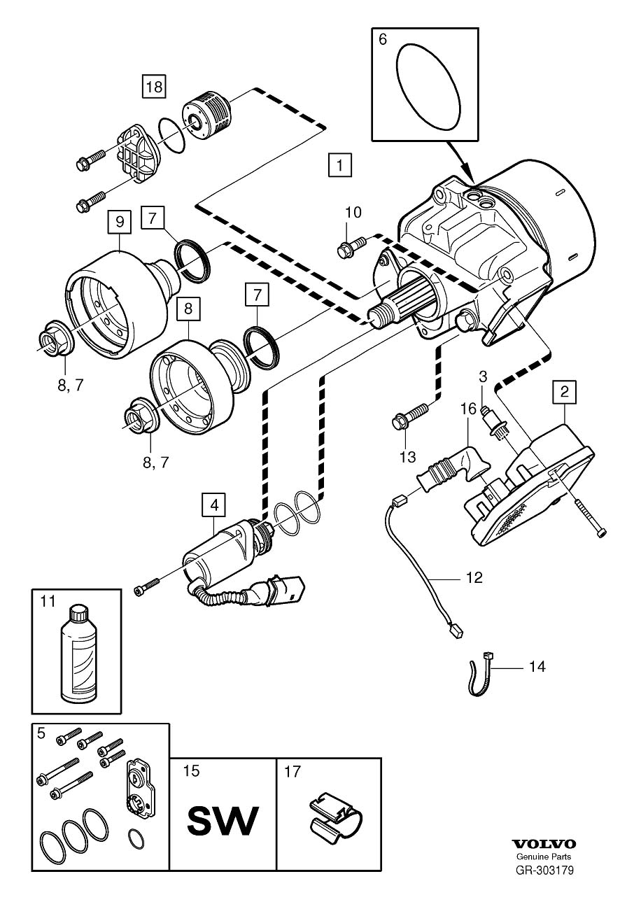 volvo xc60 fuel pump location