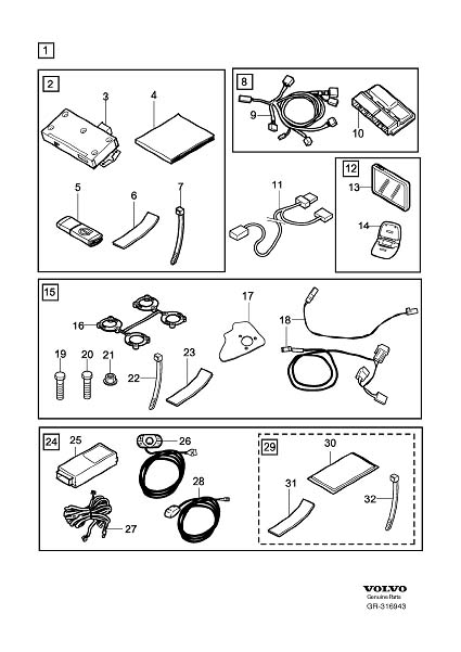 Diagram Mobility Connection Package accessory for your 2009 Volvo S40