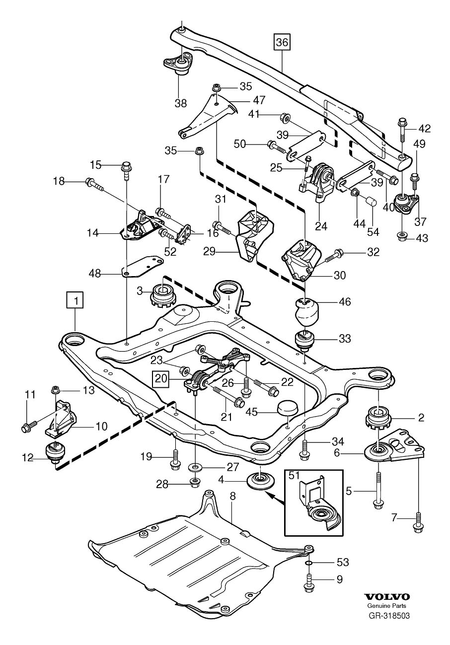 volvo engine mounting 6