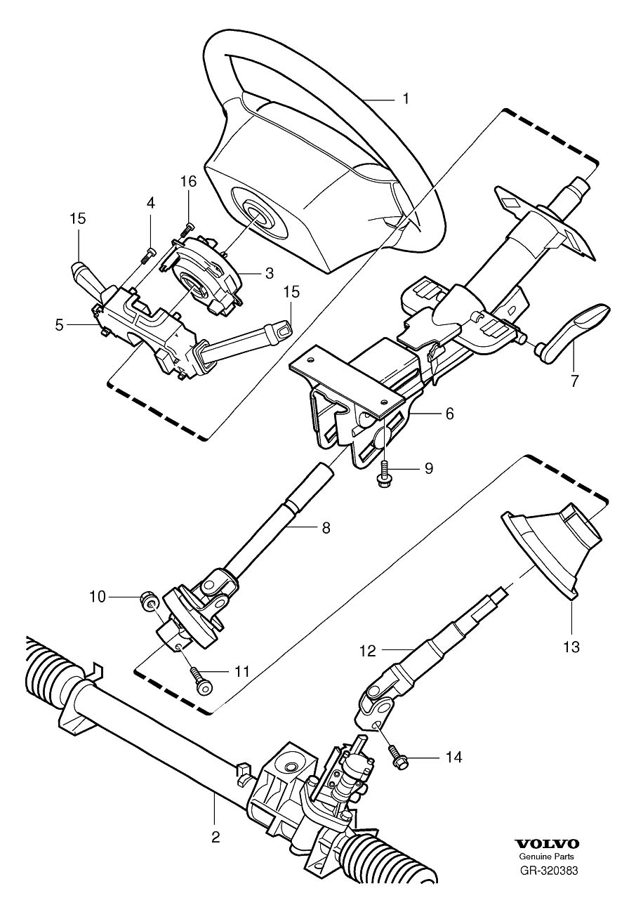 volvo 850 steering column diagram  volvo  free engine