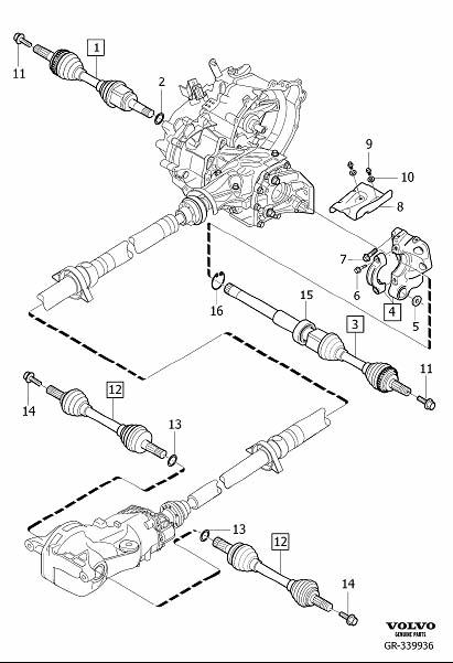 volvo xc90 rear drive shaft parts