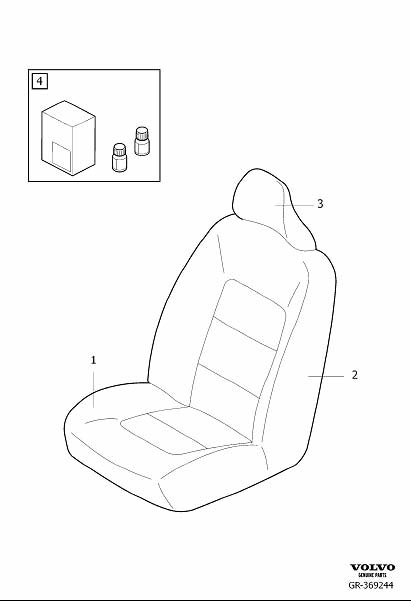 Diagram Upholstery front seat, Upholstery frontseat for your 2018 Volvo S60