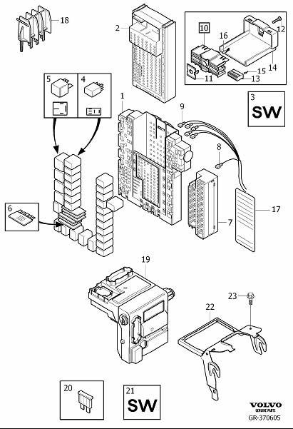empty fuse box xc90 empty automotive wiring diagrams description gr 370605 empty fuse box xc