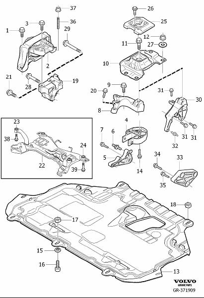 9487349     Volvo    Torque arm Differ  May  Production
