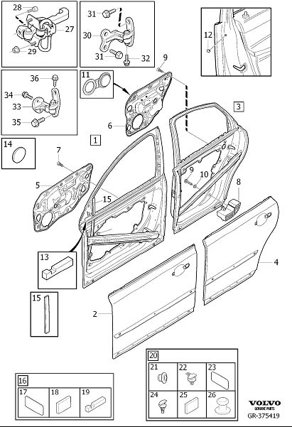 31335444     Volvo    Front door      Volvo    Parts Webstore  Oak