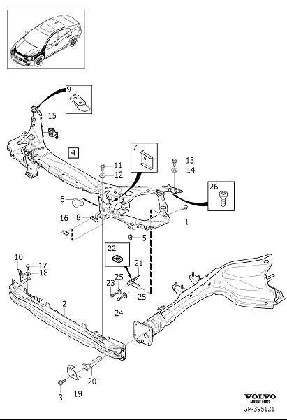 31416114  Volvo Front section   Volvo Parts Webstore  Oak