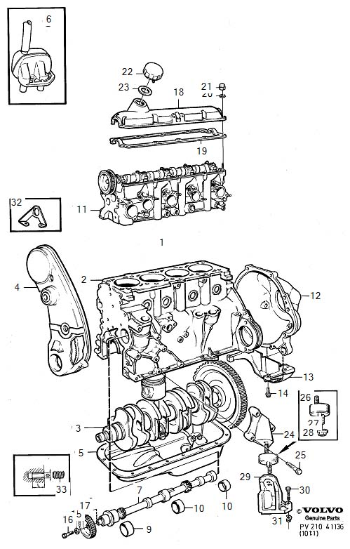 volvo 240 engine with fittings b230f  engine with fittings