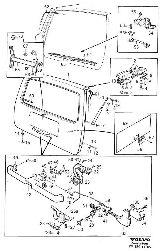 240 wagon tailgate hinge failure options? volvo forums volvo  1986 1991 240 wagons, the left hing is 1315550, the right hinge is 1315551 thats part [2] on this drawing volvo tailgate components
