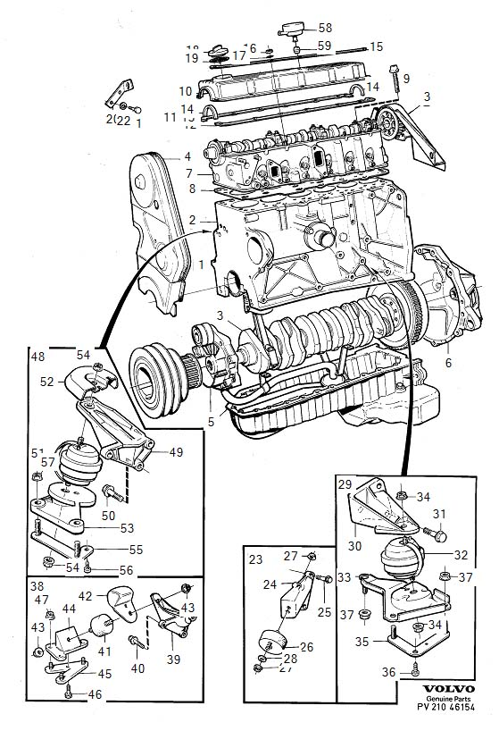 Engine with fittings D24TIC