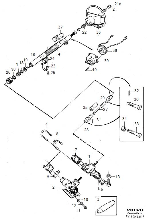 Diagram Steering steering box Steering shaft for your Volvo S60 Cross Country