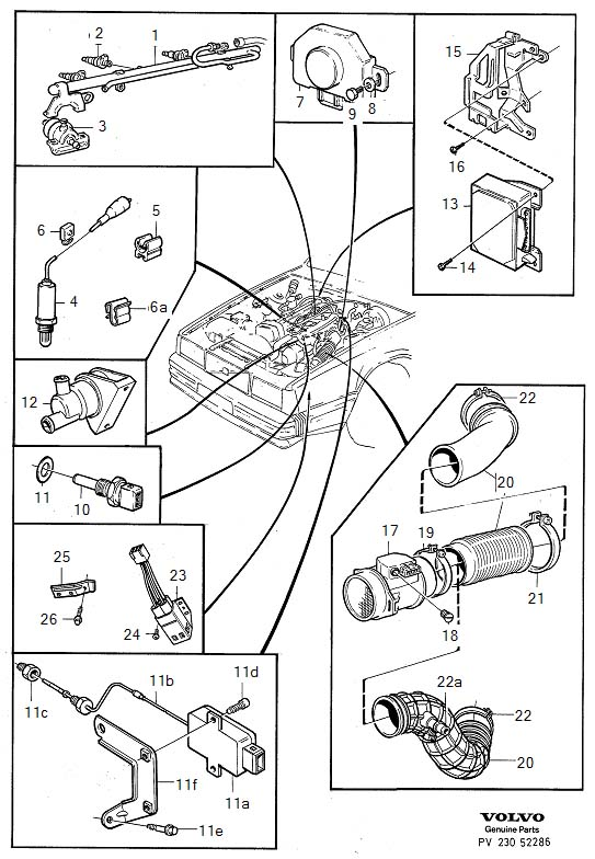 Diagram Fuel system for your 1975 Volvo 240 2.1l Fuel Injected