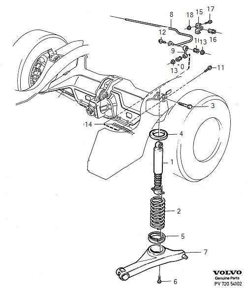 Multi Link Rear Suspension: 3516803 - Volvo Shock Absorber. Introduced