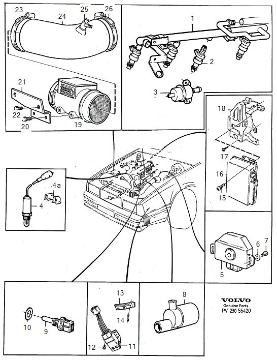 1991 Volvo 740 Fuel System on Volvo 240 Fuel Filter Location