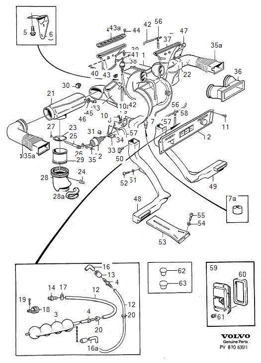 volvo 940 heater hose diagram