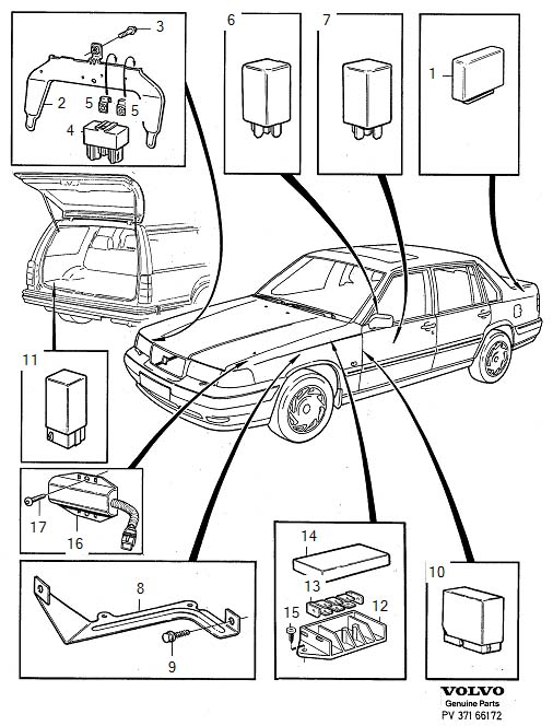 Volvo 760 Ac Wiring Diagram also Volvo 850 Fuel Filter furthermore 1998 Volvo V90 How To Replace Overdrive Relay additionally Volvo 960 Relay Location further Electrical CircuitsRelays1. on volvo 850 ac relay location